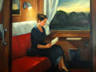 Sally Storch, Northeast Train at Dusk