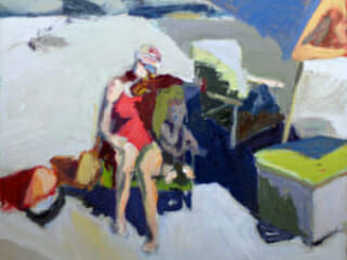 Linda Christensen, Two Figures at the Beach