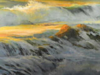 Gil Dellinger, Sunset Off Rockledge Street Laguna-Beach